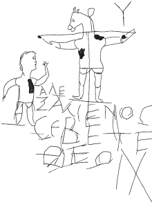 "The first recorded image of Jesus was one of mocking.  ""Alexamenos worships his god"""
